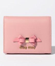 MIUMIU/【MIUMIU】2つ折りミニ財布/CALF FIOCCO【PESCO+PETALO】/501600171