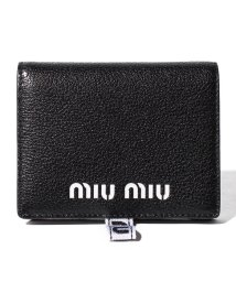 MIUMIU/【MIUMIU】2つ折りミニ財布/MADRAS SPORT【NERO】/501600172