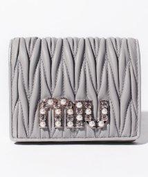 MIUMIU/【MIUMIU】2つ折りミニ財布/MATELASSE NEW【NUBE】/501600173