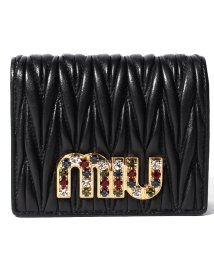 MIUMIU/【MIUMIU】2つ折りミニ財布/MATELASSE NEW【NERO 1】/501600174