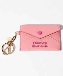 MIUMIU/【MIUMIU】キーリング付きカードケース/MADRAS FOREVER【ROSA F】/501600177