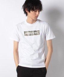 STYLEBLOCK/迷彩柄ボックスロゴプリントクルーネック半袖Tシャツ/501616554