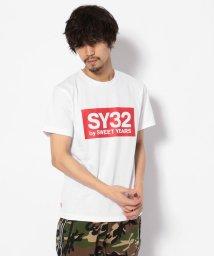 RoyalFlash/SY32 by SWEET YEARS /エスワイサーティトゥ バイ スィートイヤーズ /COLOR BOX LOGO TEE /501878157