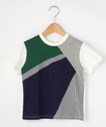 THE SHOP TK(KID)/【100cm~150cm】【パパとおそろい】カラーブロックTシャツ/501879571