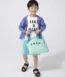coen/【水泳や海水浴にも?coen キッズ / ジュニア】coenロゴプールバッグ(PVCバッグ/トートバッグ)/501879591