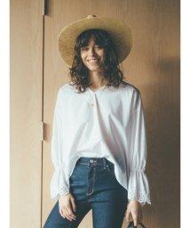 Mila Owen/刺繍入りボリュームスリーブブラウス/501879708