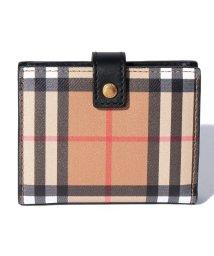 BURBERRY/バーバリーチェック/2つ折りミニ財布【BLACK】/501879735