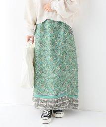 SLOBE IENA/ノスタルジックフラワー巻きスカート/501880147