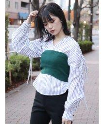 MURUA/ビスチェドッキングドロストシャツ/501462625