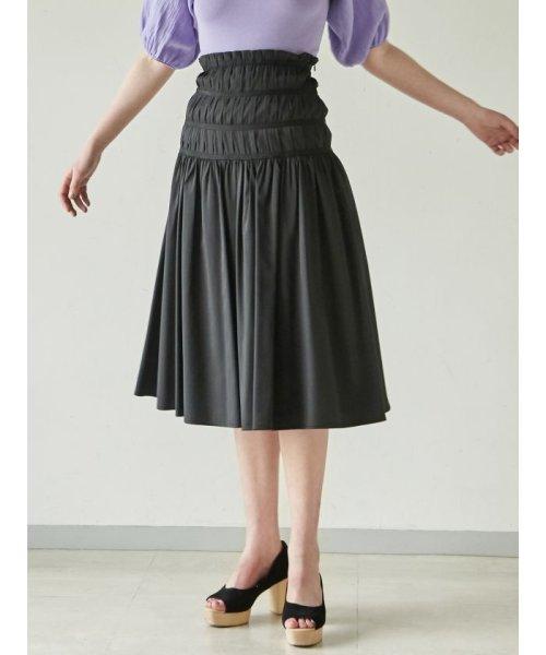 LAGUNAMOON(ラグナムーン)/タックフレアースカート/031910800801