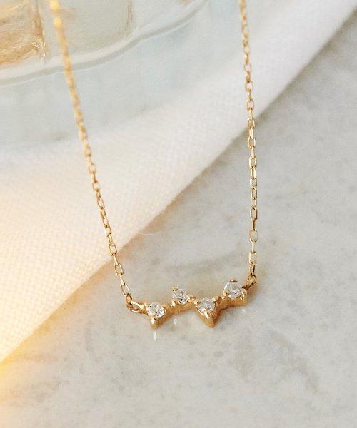 Phoebe(フィービィー)/【K10】スパークルダイヤモンドネックレス/501911152