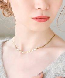 Phoebe/スタイリッシュスネークチェーンネックレス ゴールド/501602532
