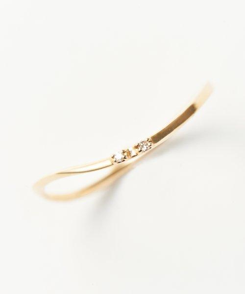 Phoebe(フィービィー)/【K10】ツイスティーダイヤモンドリング/501911351