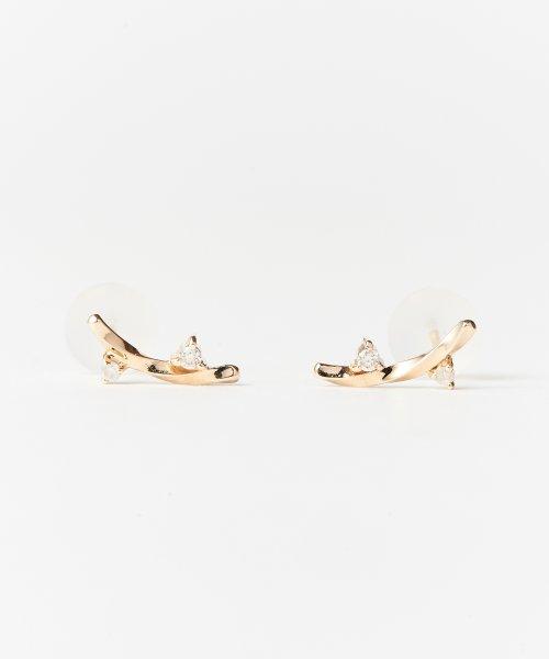 Phoebe(フィービィー)/【K10】ツイストダイヤモンドピアス/501911451
