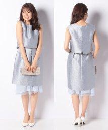 Eimy Peral/ジャガード×チュールスカート付きドレス/501603687