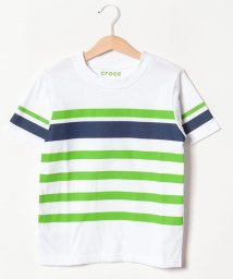 crocs(KIDS WEAR)/CROCSボーダー半袖Tシャツ/501618127