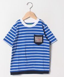crocs(KIDS WEAR)/CROCS胸ポケットボーダー半袖Tシャツ/501618128