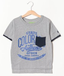 crocs(KIDS WEAR)/CROCSフェイクレイヤード半袖Tシャツ/501618129