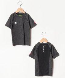 crocs(KIDS WEAR)/CROCSロゴジャガード切り替え半袖Tシャツ/501618130