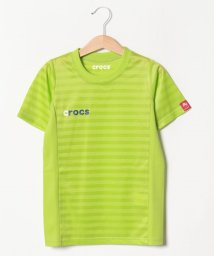 crocs(KIDS WEAR)/CROCSシャドーボーダー半袖Tシャツ/501618132