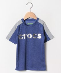 crocs(KIDS WEAR)/CROCSシルバーロゴプリント半袖Tシャツ/501618134