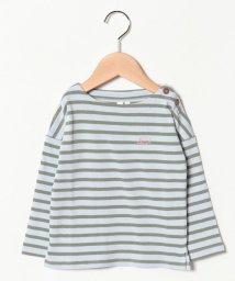 LAGOM/ハリネズミ刺繍ボーダーカットソー/501625516