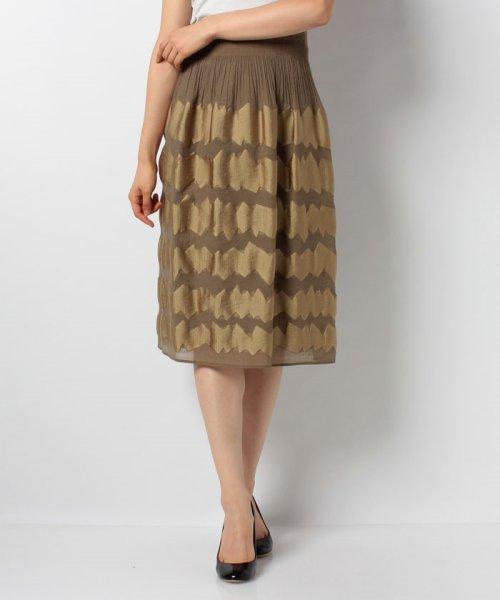 LAPINE BLANCHE(ラピーヌ ブランシュ)/シャーリングパネルジャカードスカート/159025