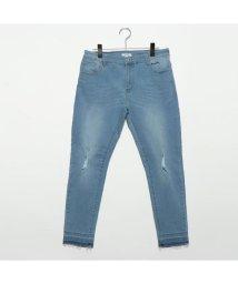 STYLEBLOCK/スタイルブロック STYLEBLOCK 裾カットオフストレッチスキニーデニムパンツ (ブリーチ)/501842467