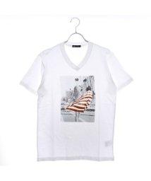 STYLEBLOCK/スタイルブロック STYLEBLOCK ガールフォトプリントVネック半袖Tシャツ (ホワイト)/501842702