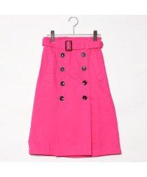 STYLEBLOCK/スタイルブロック STYLEBLOCK 綿ツイルベルト付きタックトレンチスカート (ピンク)/501843108