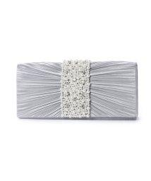 STYLEBLOCK/スタイルブロック STYLEBLOCK 結婚式二次会ホワイトパールプリーツパーティークラッチバッグ (グレー)/501844878