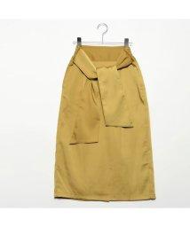 STYLEBLOCK/スタイルブロック STYLEBLOCK マットサテンバックリボンタイトスカート (イエロー)/501846347