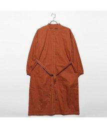 STYLEBLOCK/スタイルブロック STYLEBLOCK 綿ウエストリボンステッチワンピース (オレンジ)/501846416