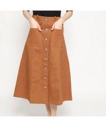 STYLEBLOCK/スタイルブロック STYLEBLOCK 綿グログランフロント釦スカート (キャメル)/501846555