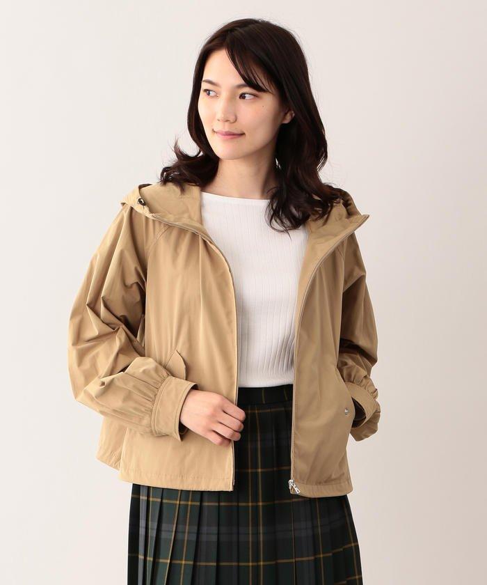 【ウォッシャブル】塩縮タンブラータフタジャケット