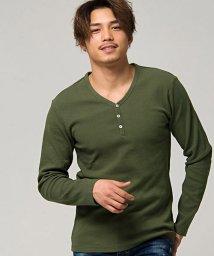 CavariA/CavariA【キャバリア】ネックが選べるスパンテレコ長袖Tシャツ/501882558