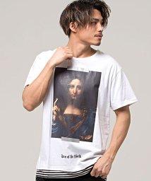 CavariA/CavariA【キャバリア】ピクチャーフェイクレイヤードクルーネック半袖Tシャツ/501882564