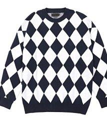 razz/RAZZIS【ラズ】Diamond pattern cotton knit trainerトレーナー/501882591