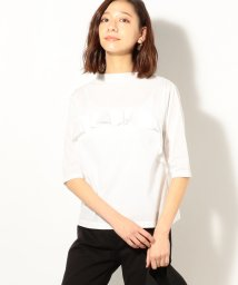 coen/ボトルネックフリル5分袖Tシャツ/501885046