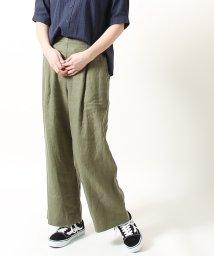 coen/【WEB限定サイズ⇒XL】フレンチリネン9分丈パンツ/501885057