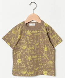 b-ROOM/動物総柄プリントTシャツ/501651721