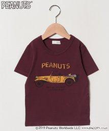 b-ROOM/PEANUTSコラボスヌーピープリントレトロカーTシャツ/501651722
