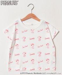 b-ROOM/PEANUTSコラボスヌーピープリントTシャツ/501651723