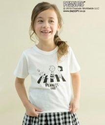 b-ROOM/PEANUTSコラボオマージュプリントTシャツ/501651724