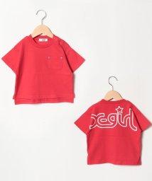 X-girl Stages/インパクトバックロゴポケットつきTシャツ/501651735