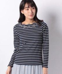 axes femme/お花刺繍スカラッププルオーバー/501651752