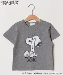 b-ROOM/PEANUTSコラボスヌーピープリントTシャツ/501730313