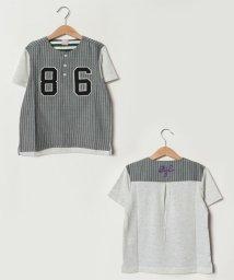 petit main/ナンバリングユニフォーム風切り替えTシャツ/501730317