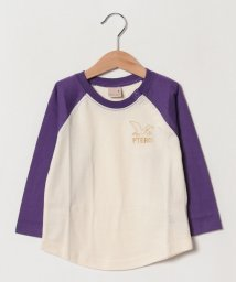 petit main/恐竜刺しゅうラグランTシャツ/501730318