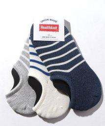 nano・universe/Healthknit:メッシュボーダー 3P Socks/501800108